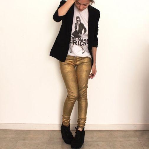 c379843dc8 Pantalones dorados zara - Chicfy