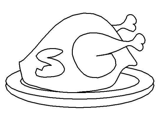 Cooked turkey free printable coloring and activity pages for Cooked turkey coloring pages