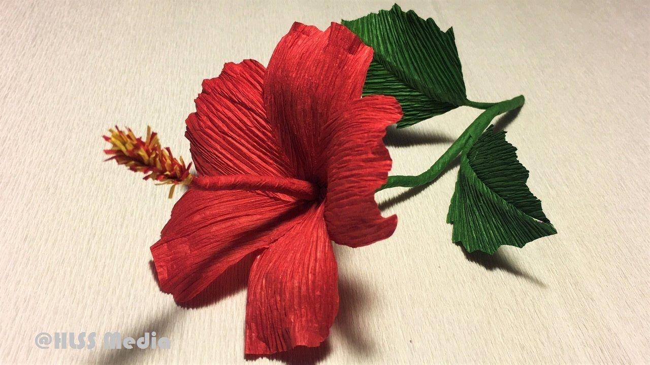 How To Make Diy Hibiscus Crepe Paper Flower Tutorialshibiscus