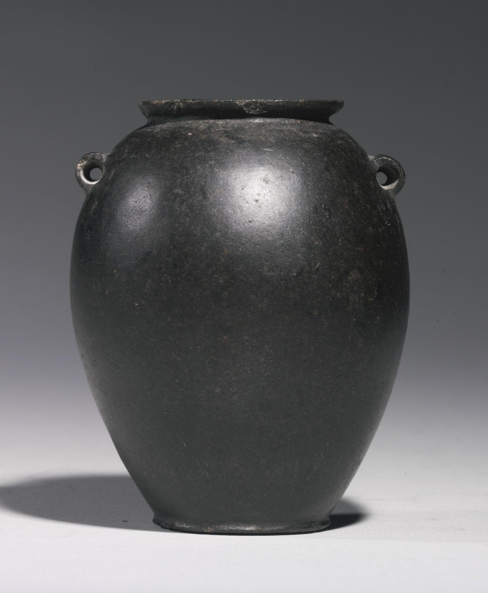 An Egyptian Black Basalt Jar Predynastic Period Nagada I 1st