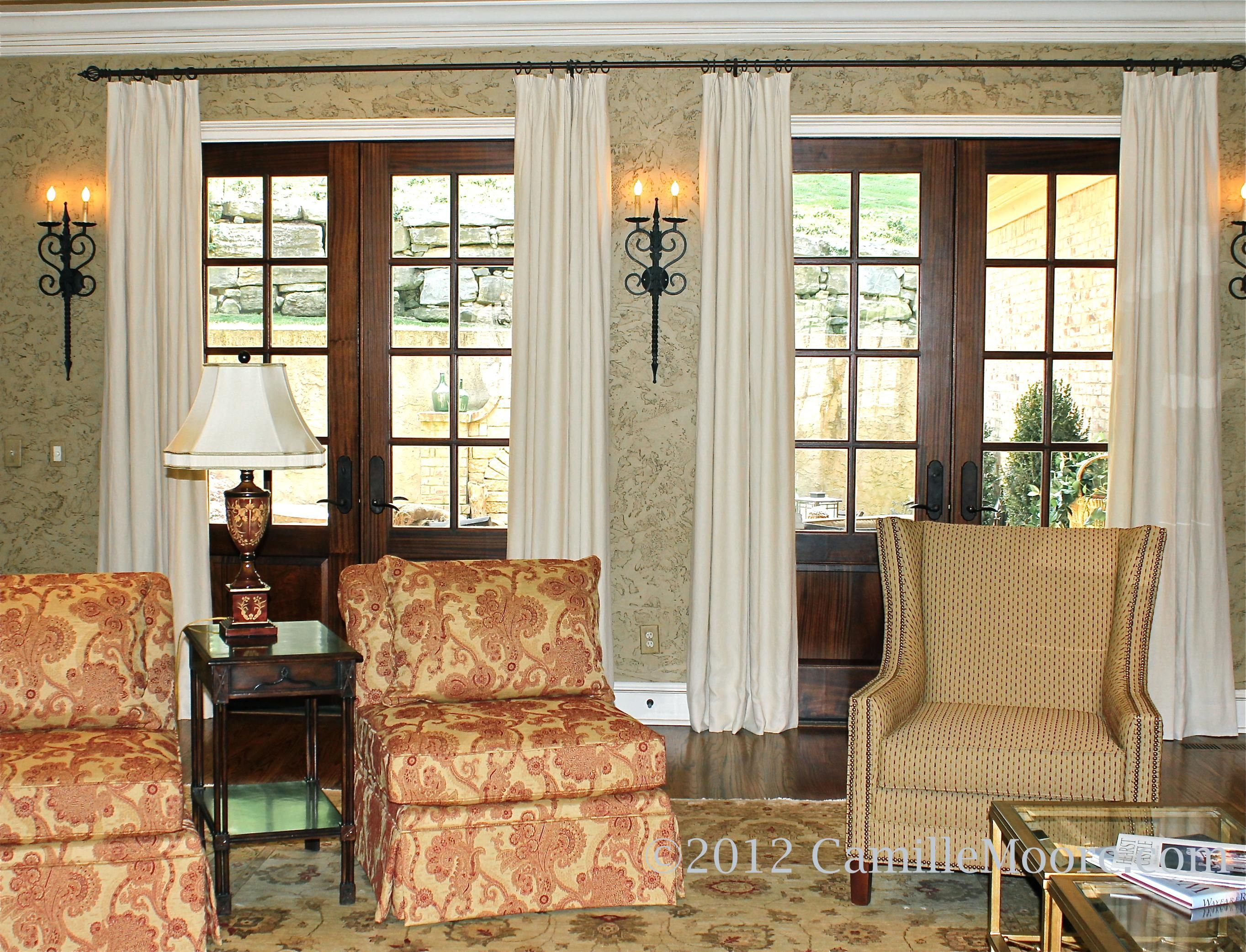 French Door Window Treatments Interior Treatments By