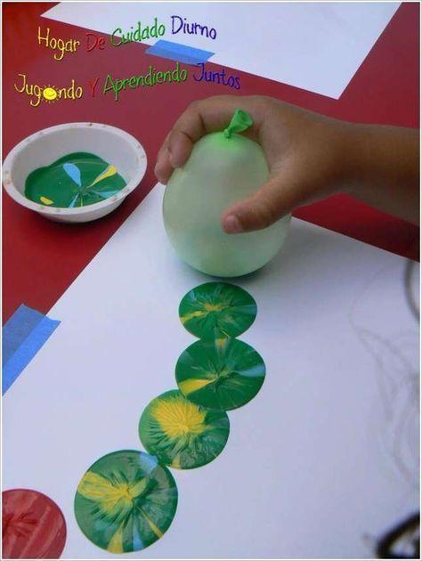 Photo of Einfache und coole Idee Drinnen zu Beschäftigen – Malen mit Luftballons *** Pai…