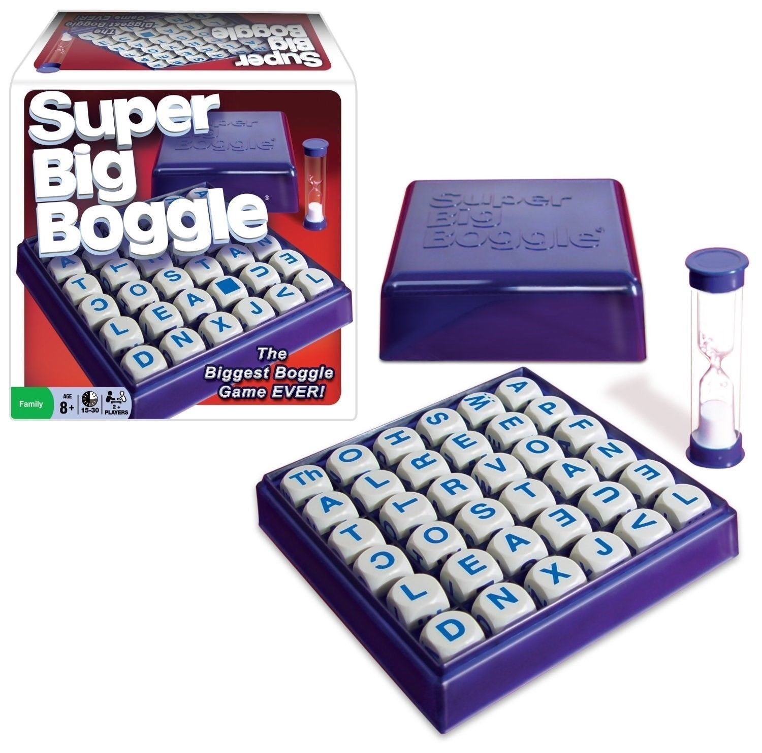 Other Games 234 Super Big Boggle Word Scramble Board Game