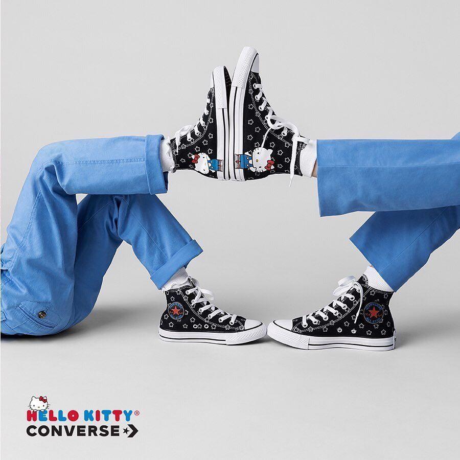 Bnib Exclusive Hello Kitty X Converse Ct Hi Black White Size 37 38
