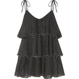Buy Cheap Release Dates Imaan Tiered Polka-dot Cotton-voile Mini Dress - Black Lisa Marie Fernandez Release Dates Cheap Online Cheap Sale Wholesale Price 6B7AAcqi