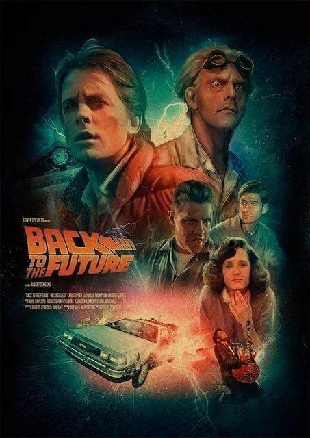 Back to the Future Poster With Characters From Original Film. Various Sizes Available. - 40x60cm