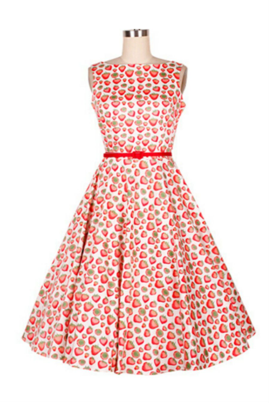 50s Style Strawberry Printed Dress | 50s | Pinterest | Vestiditos ...