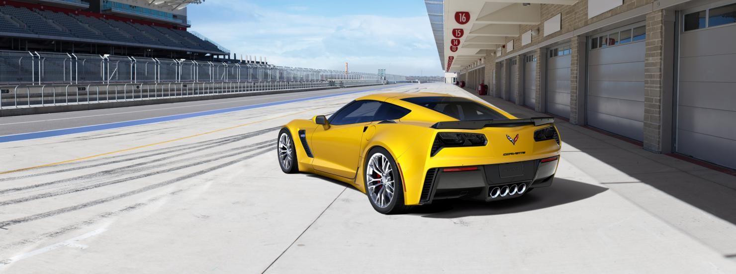 Exterior view for Corvette Racing Yellow Tintcoat