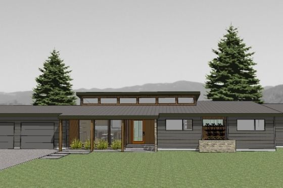 Modern Style House Plan 3 Beds 2 Baths 1986 Sq Ft Plan 519 2 Modern Style House Plans Mid Century Modern House Plans Ranch House Plans