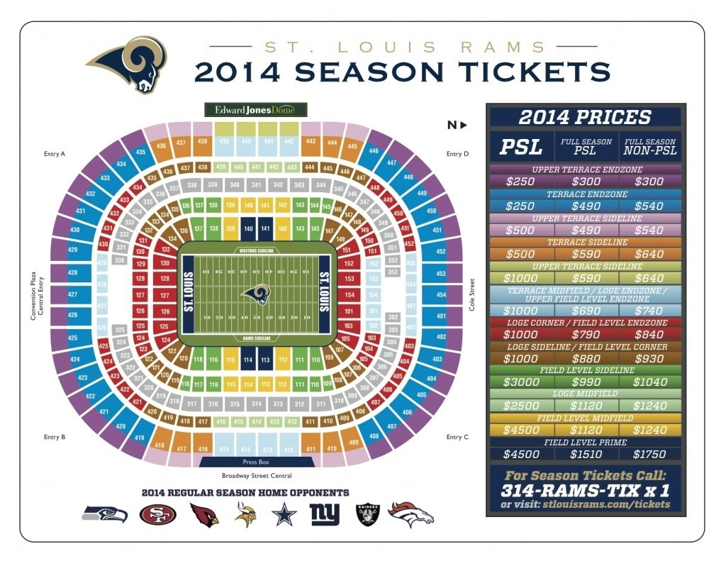 The Amazing And Gorgeous Rams Seating Chart View