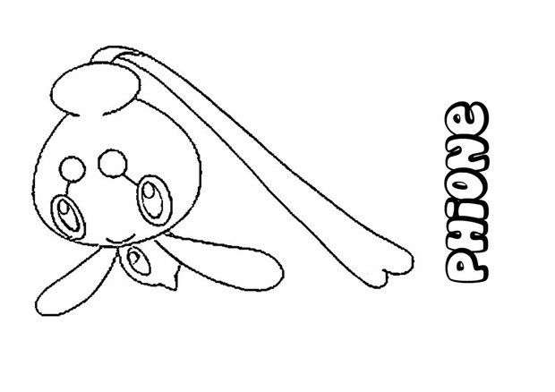 Phione Pokemon Coloring Page More Pokemon Coloring Sheets On