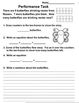 Common Core Math Performance Task For St Grade If You Enjoy This