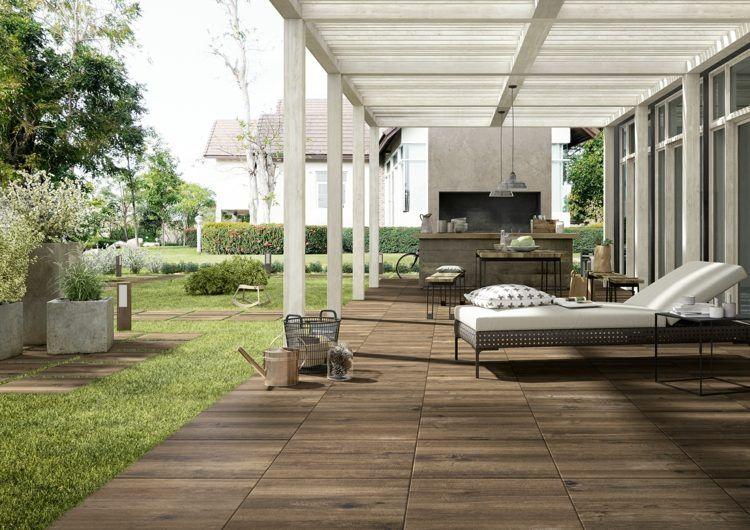 Veranda Avec Carrelage Exterieur Imitation Bois Par Marazzi Carrelage Exterieur Carrelage De Jardin Carrelage Aspect Bois