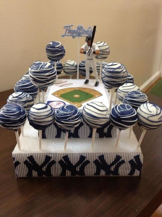 New York Yankees Cake Pops