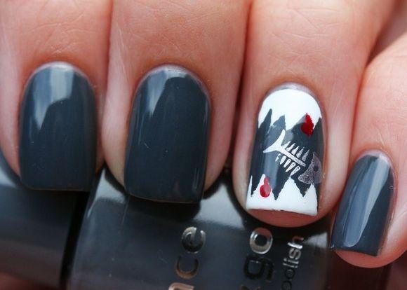 55 Killer Shark Nail Designs Sharks Pinterest Make Up