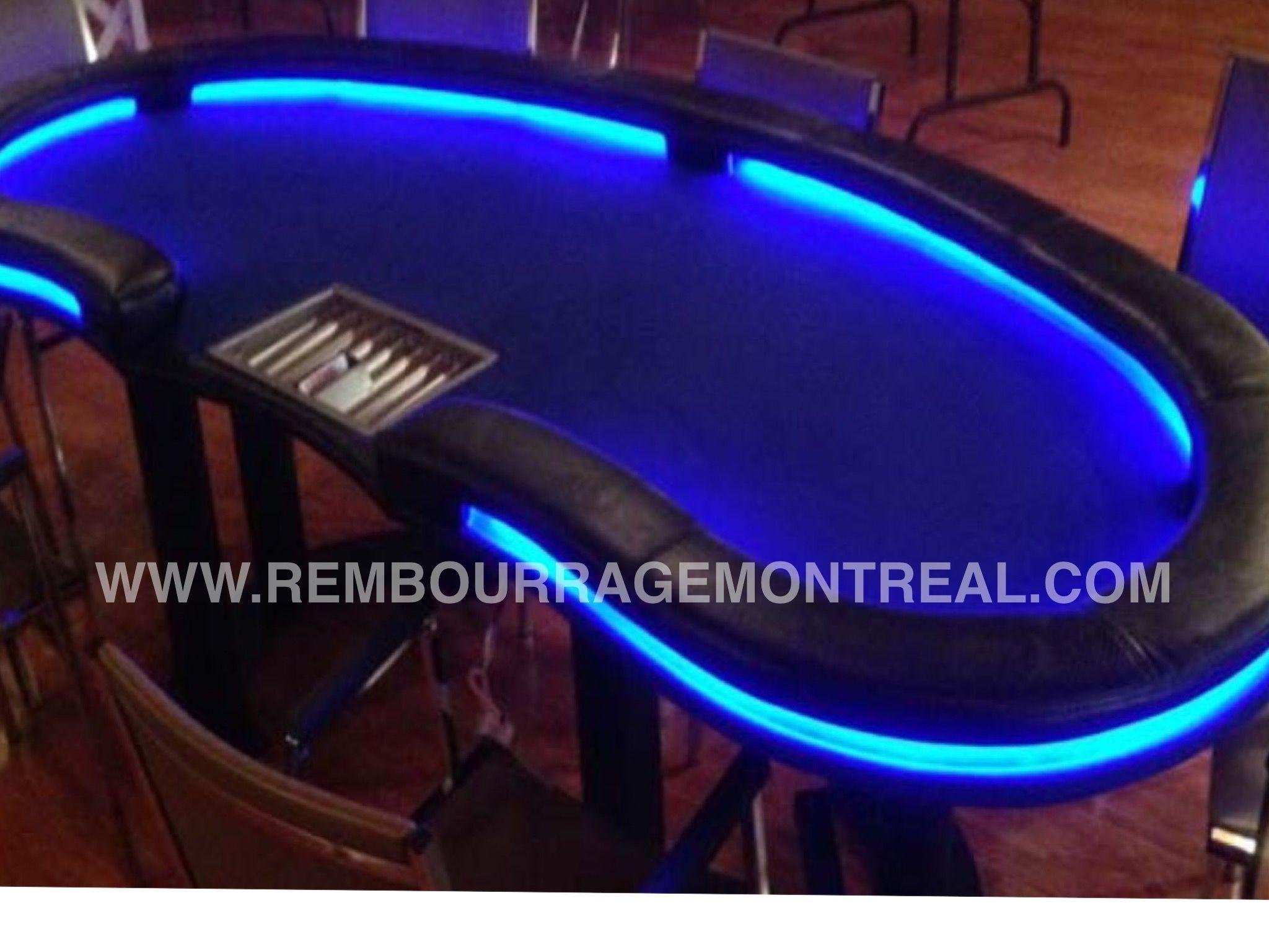 Swell Table De Poker Avec Lumieres Led Custom Poker Table Beutiful Home Inspiration Xortanetmahrainfo