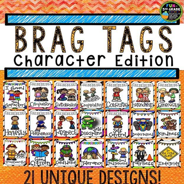 Character Education Braggin Badges {Brag Tags} Positive character