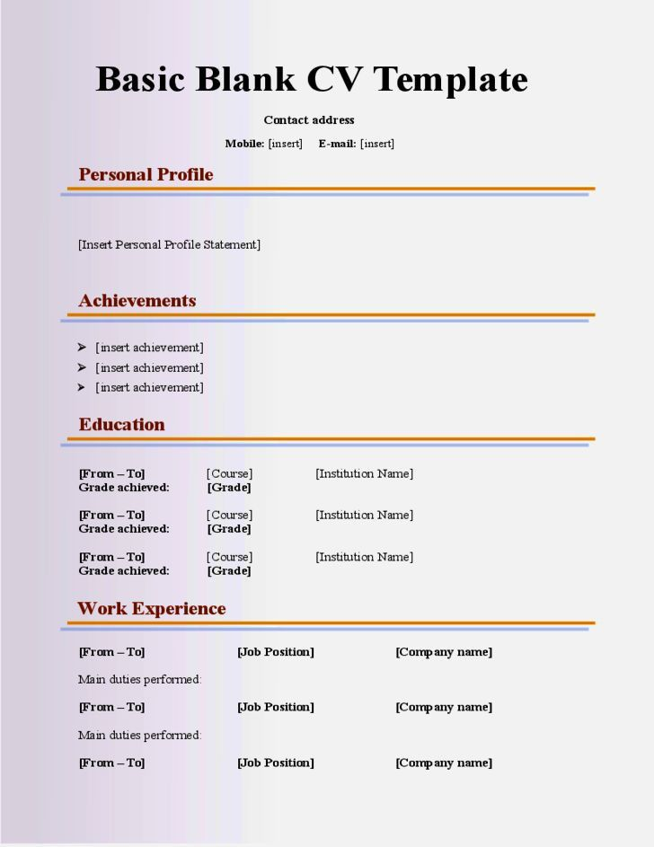 Cv template for 40 year old resume examples cv