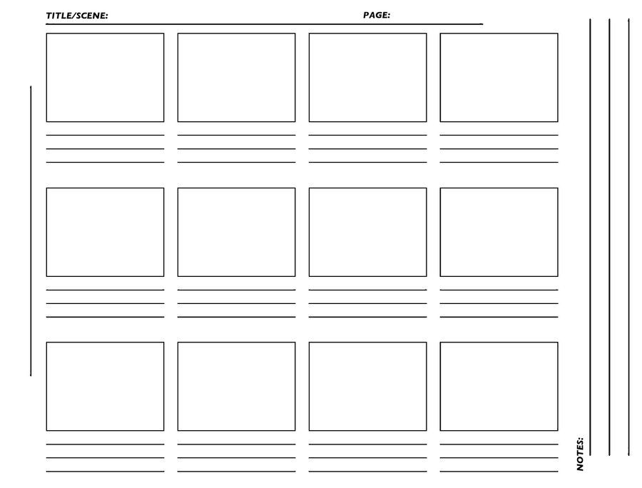 Storyboard Template Hirez Tiff By Westwolf  Storytelling
