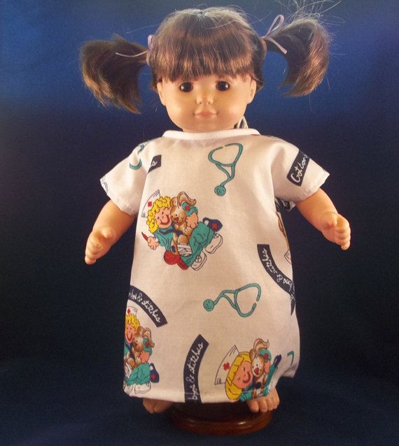 Hospital Gown for your Bitty Baby or other favorite by DeBeesHive
