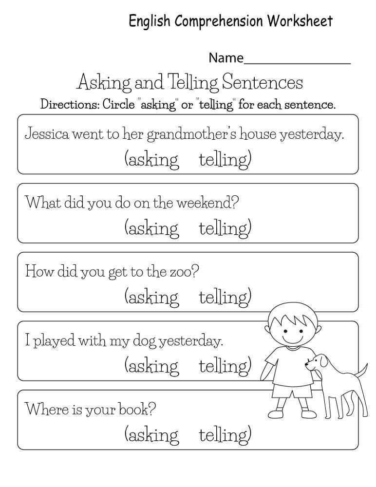 Free Worksheets To Print K5 Worksheets In 2020 Comprehension Worksheets English Worksheets For Kids Kindergarten Reading Worksheets