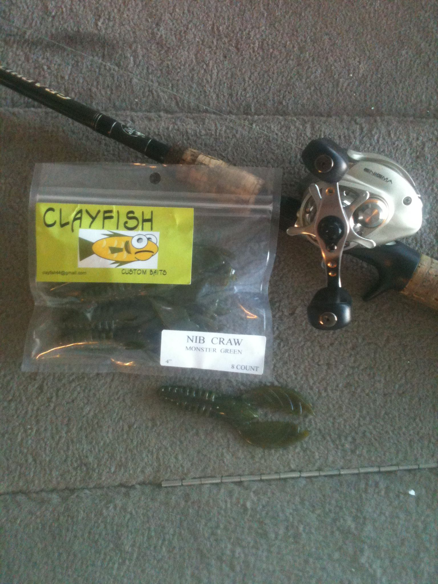 clayfish custom baits, specializing in soft plastic bass fishing, Soft Baits