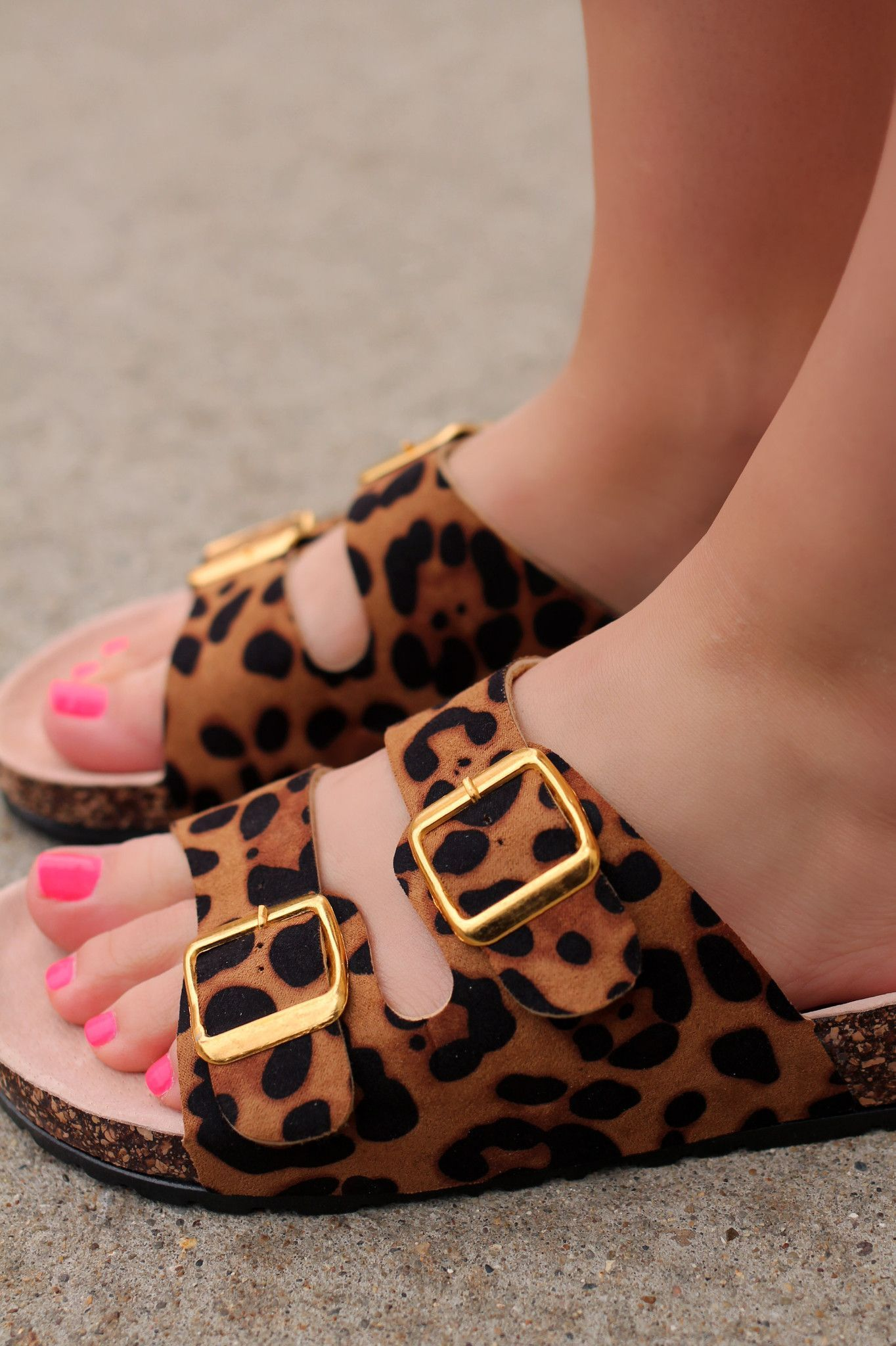 ed9d6e96bec8 Cheetah Print Double Buckle Sandals