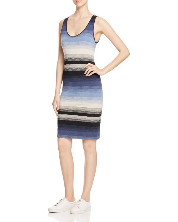 Three Dots Angelica Graphic Stripe Tank Dress