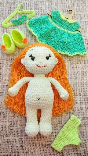 CROCHET DOLL PATTERN, Amigurumi baby doll pattern, Stuffed doll toy, Knitted Plush toys pattern #babydoll