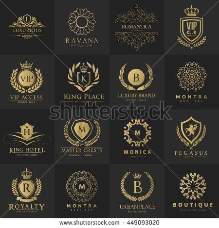 Luxury logo collection design for boutique hotel resort for Top boutique hotel brands