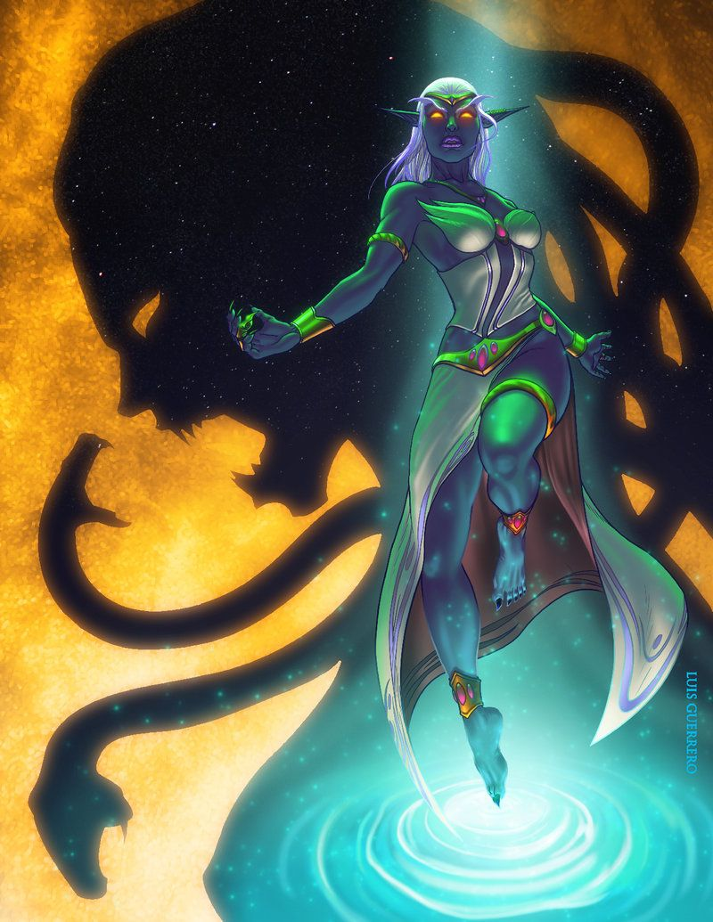 Queen Azshara By Luis Guerrero Wow World Of Warcraft Warcraft