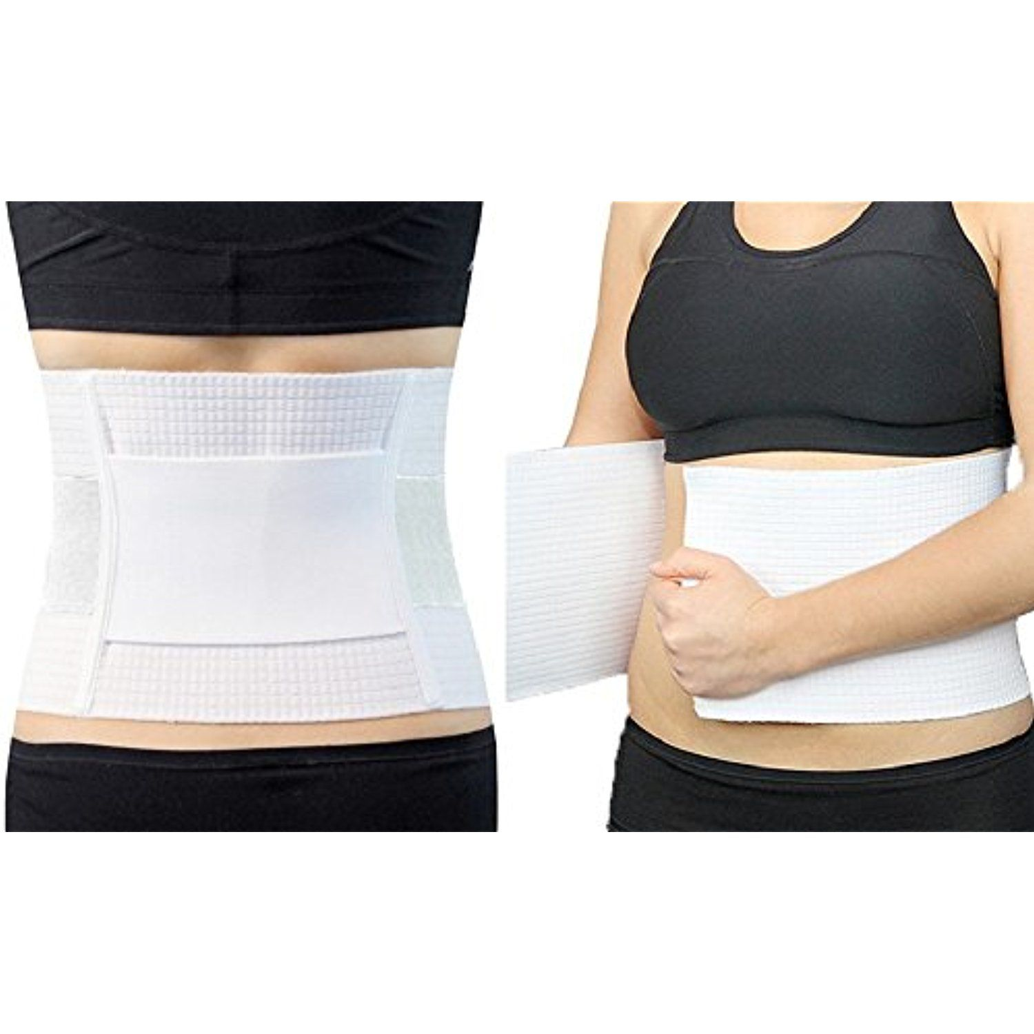 Belly Wrap/ Lumbar Support Belt/ Body Shaper/Posture Support (White) *** Check this awesome product by going to the link at the image. (This is an affiliate link) #WellnessRelaxation
