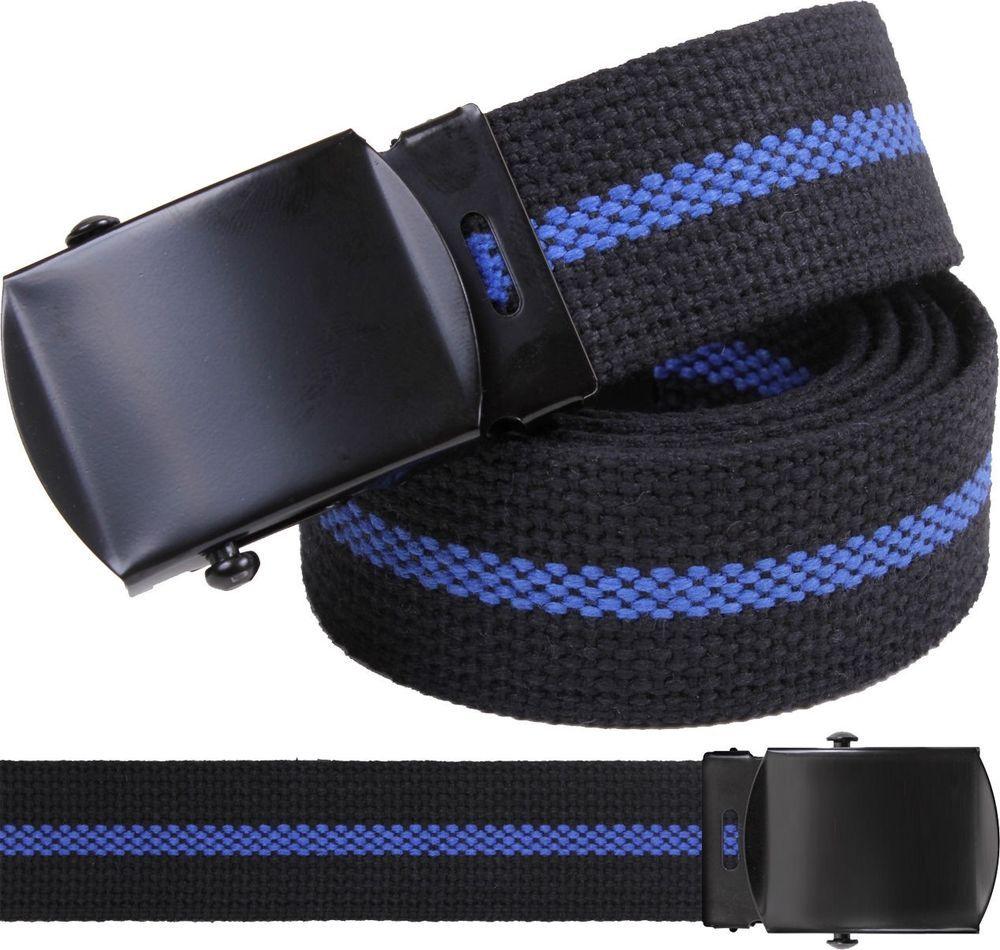 Black Law Enforcement Thin Blue Line Support The Police Web Belt w  Black  Buckle   521a878980e