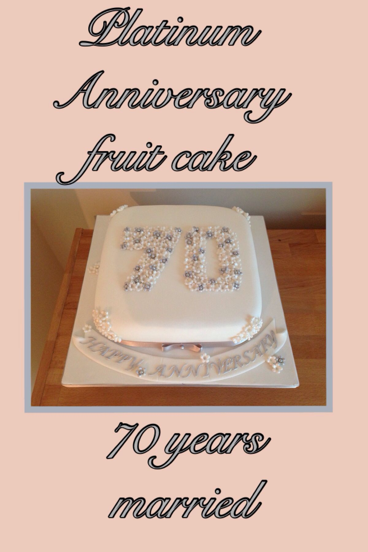 70th Platinum Anniversary Cake