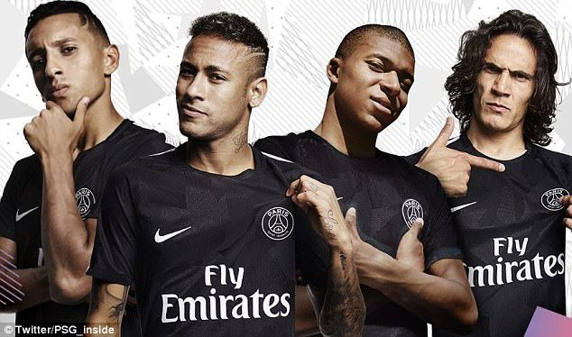 huge discount 3864d 35b26 Neymar unveils PSG new third kit atop the Parc Des Princes ...