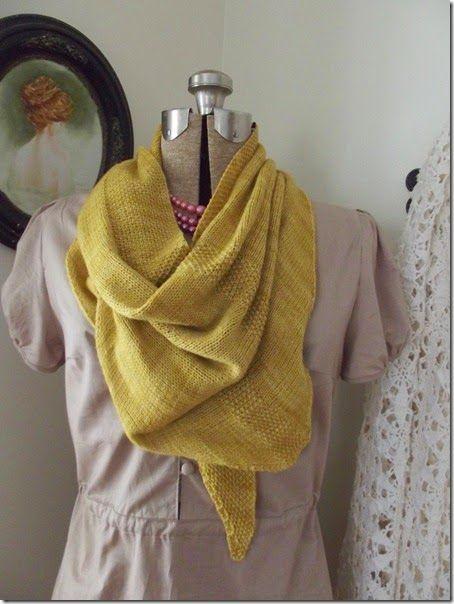 Nae scarf by Anat Rodan in Malabrigo Sock yarn, in Ochre. Cozy Things