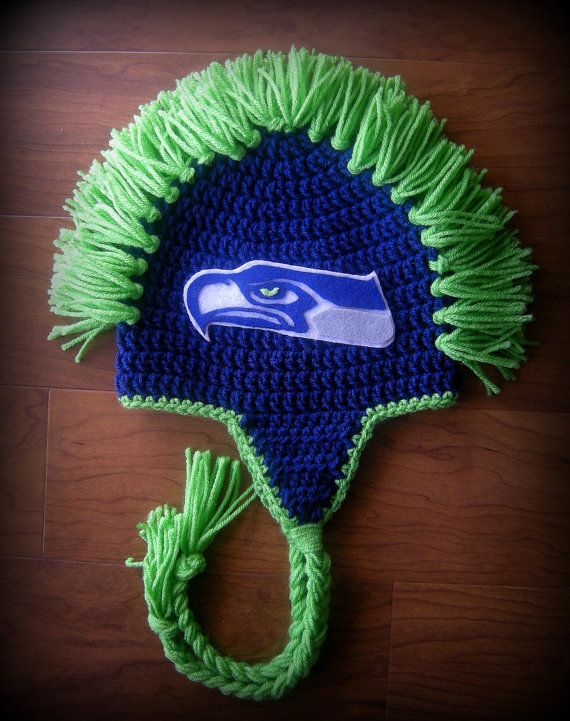 Sports Team Theamed Mohawk Hat Seattle by LoopsyDaisyDesign, $26.00 ...