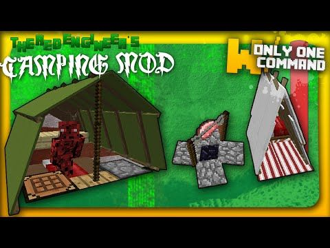 Minecraft Tents And Camp Fires With Only Command Blocks Camping - Minecraft moderne hauser lekoopa