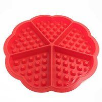DOB Heart-shaped Silicone Waffle Mold Silicone Cake...