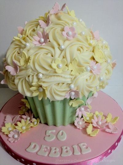 Giant Cupcake By mrsvb78 on CakeCentral.com