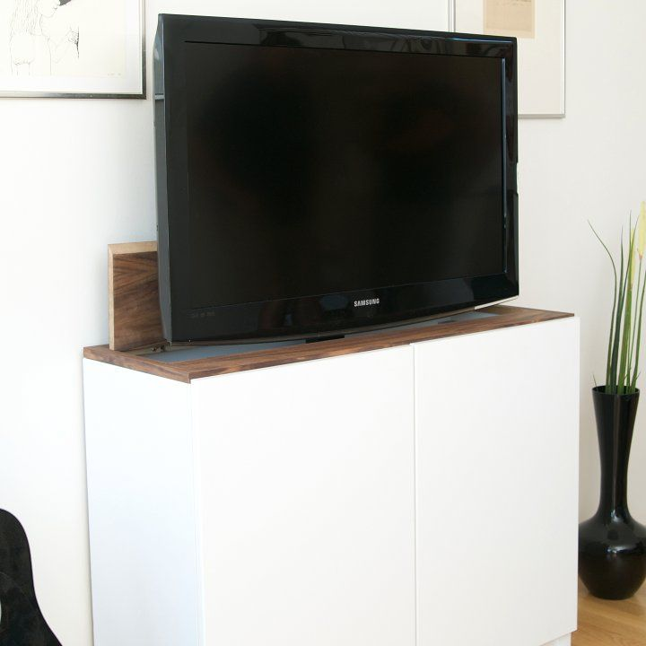tv lift with ikea besta home pinterest tv m bel. Black Bedroom Furniture Sets. Home Design Ideas