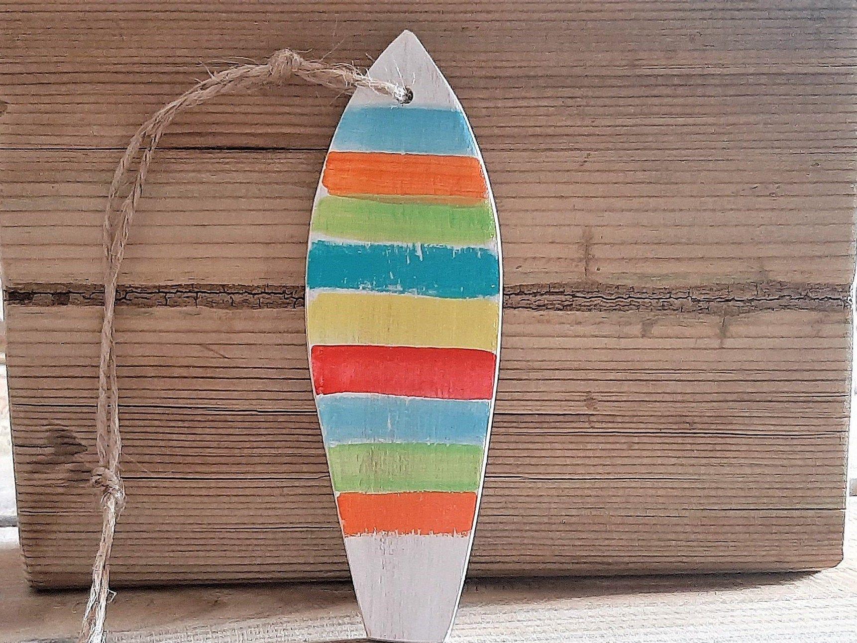 Surfboard Petite Planche De Surf En Bois A Suspendre Etsy Surfboard Wall Art Decor Art Decor