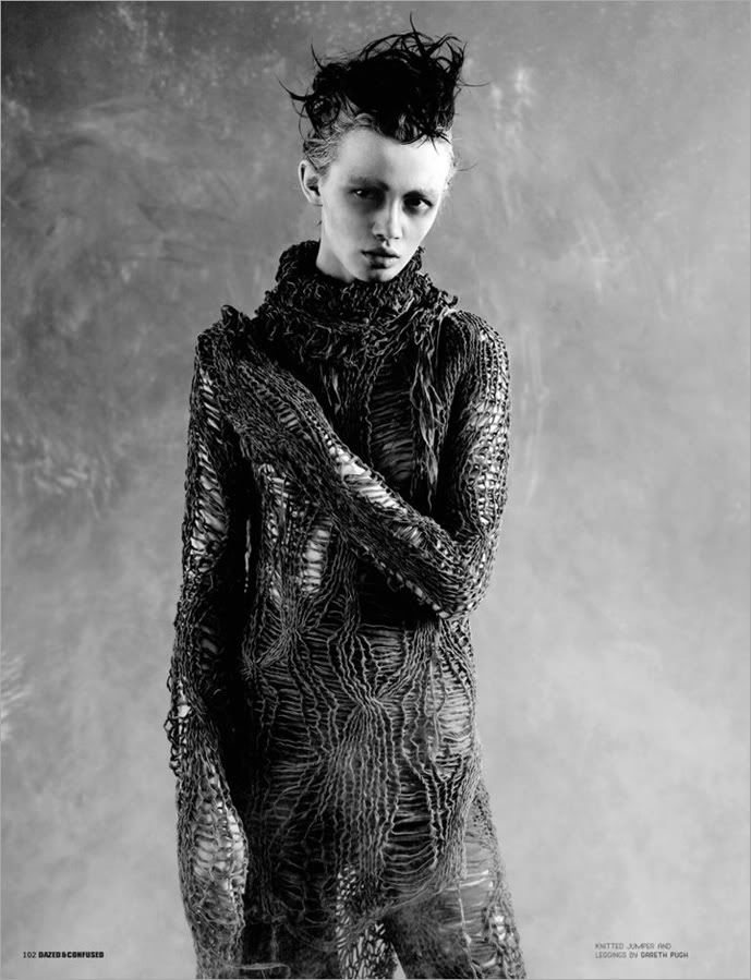 Visions of the Future: Gareth Pugh knit sweater, Dazed and Confused.