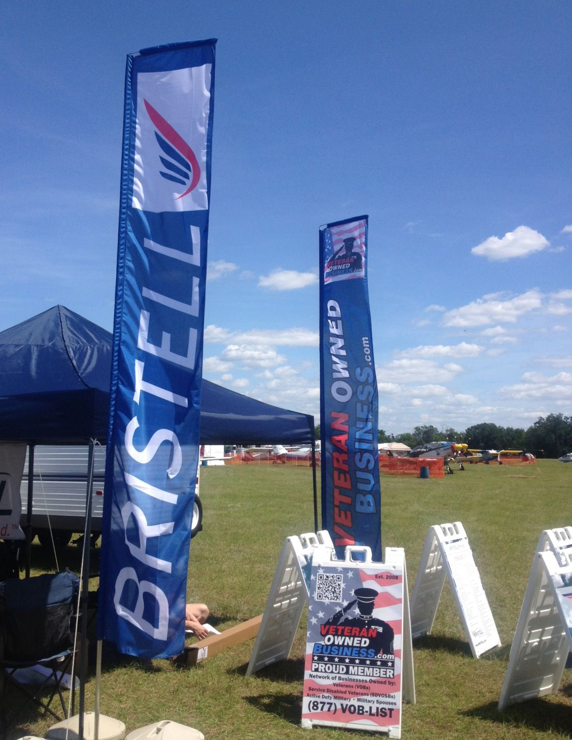 Vob Member Bristell Is Exhibiting At Sun N Fun In Lakeland Florida This Week In Addition To Their Signage Veteran Owned Business Veteran Military Veterans