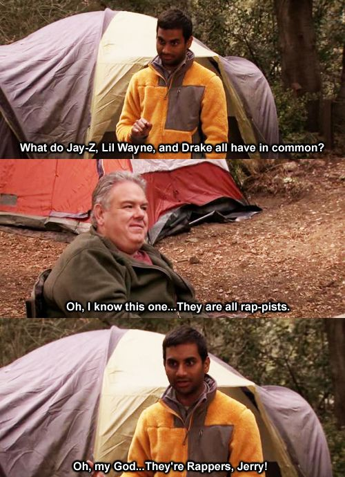 Parks Recreation Season Three Episode 8 Camping Oh My God