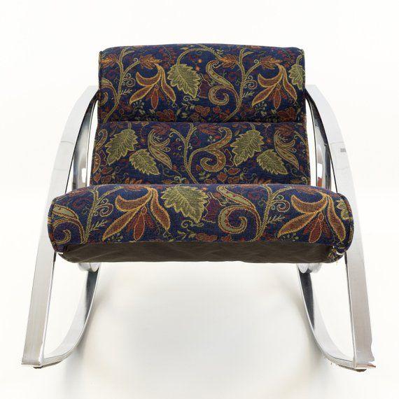 Mcm Baughman Accent Chair: Milo Baughman Style Chrome Scoop Mid Century Modern