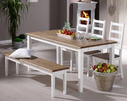 set »paris« (85 x 180 cm, 3 stühle und 1 bank) - setangebote, Esstisch ideennn