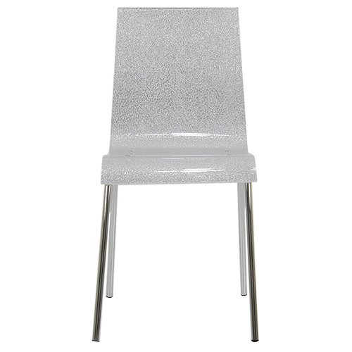 Hashtag Home Gel Acrylic Dining Chair Silber Stuhle Design