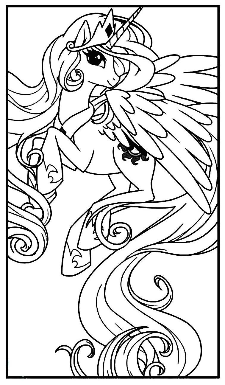 My Little Pony Princess Celestia Horse coloring pages
