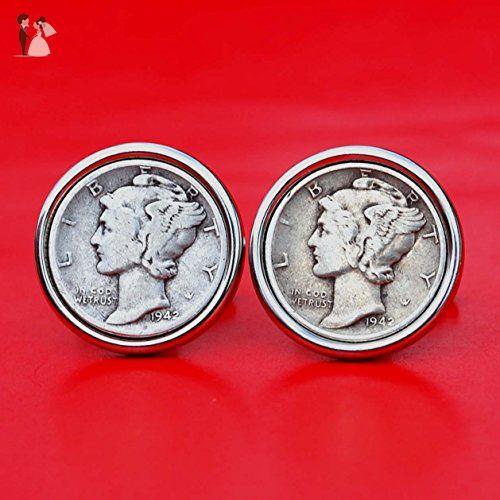 Circulated 1942 Mercury Dime 90/% Silver US Coin